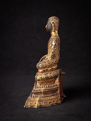Antike Bronze Thai Mönch Figur