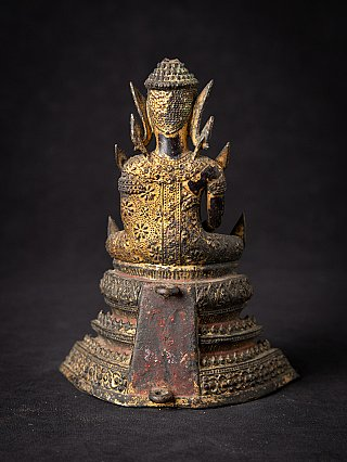 Antique bronze Thai Rattanakosin Buddha