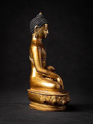 Oud bronzen Nepalees Boeddhabeeld