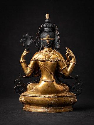 Oud bronzen Nepalese Chenrezig