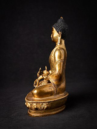 Oude bronzen Nepalese Medicijnboeddha
