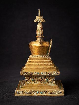 Old bronze Nepali stupa