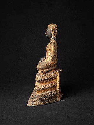 Antique bronze Thai monk statue