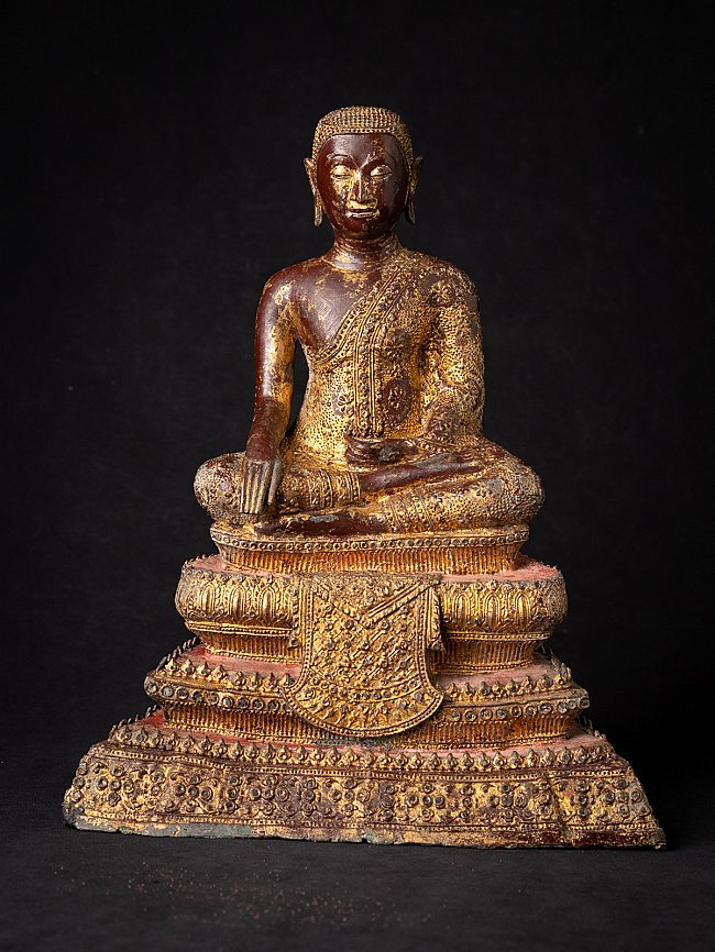 Antique Thai bronze Monk statue