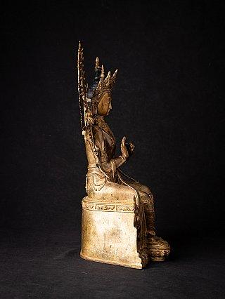 Old bronze Nepali Maitreya Buddha statue