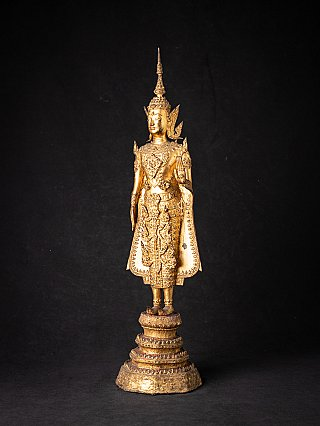 Antique bronze Thai Rattanakosin Buddha statue