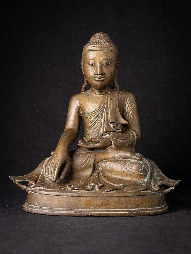 Antike bronze Birmanische Buddhafigur