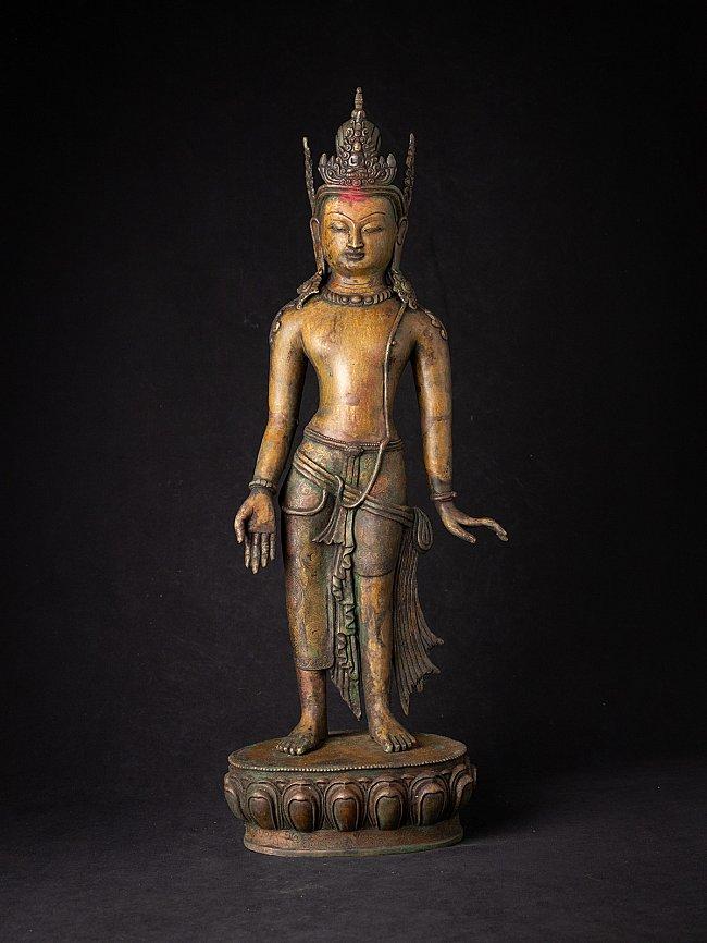 Antique bronze Nepali Bodhisattva