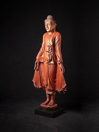 Grote antieke houten Mandalay Boeddha