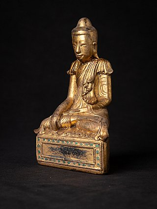 Antique wooden Burmese Shan Buddha