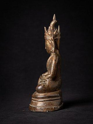 Besondere antike bronze Arakan Buddhafigur