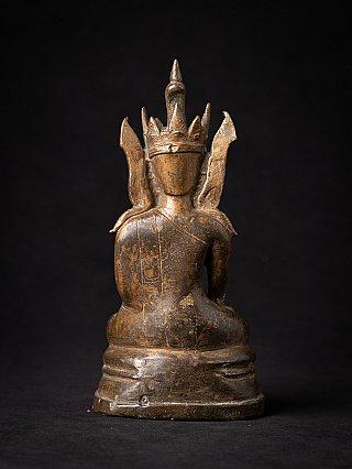 Bijzondere antieke bronzen Arakan Boeddha