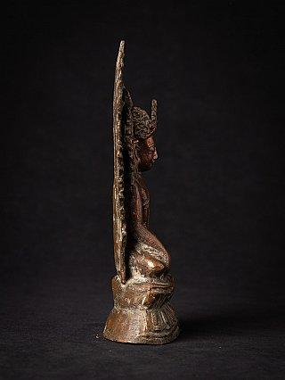 Antique bronze crowned Arakan Buddha