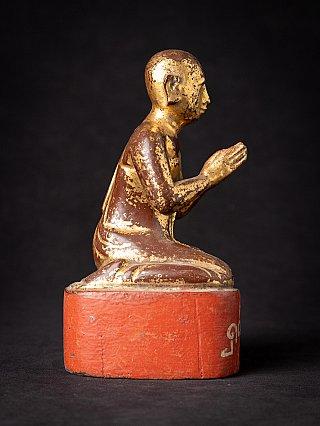 Antike holzerne Birmanische Mönch