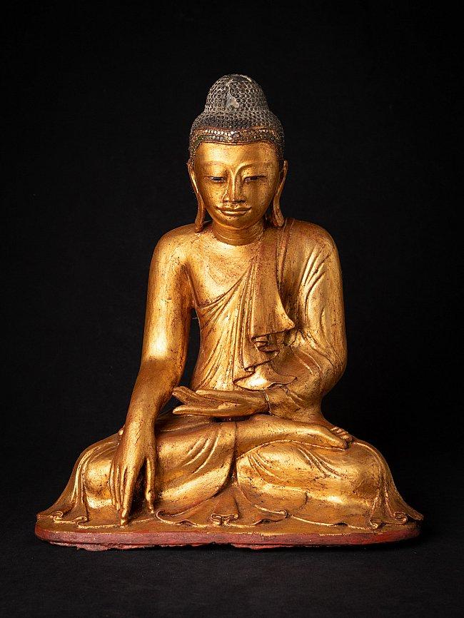 Antieke bronzen Mandalay Boeddha