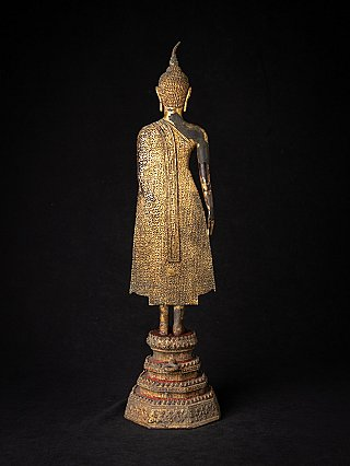 Antique Thai bronze Rattanakosin Buddha