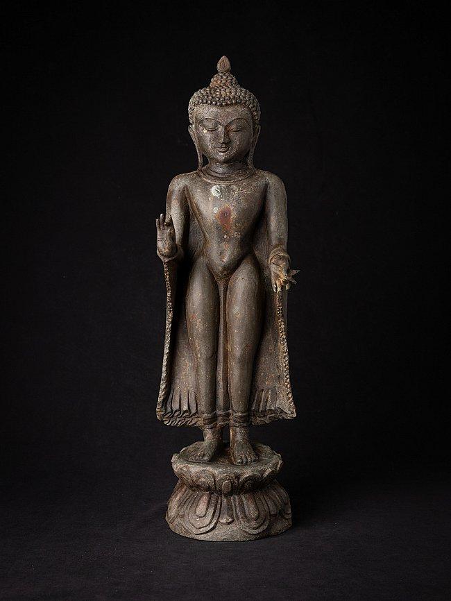 Old bronze Burmese Bagan Buddha statue