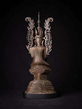 Very special antique bronze crowned Buddha statue