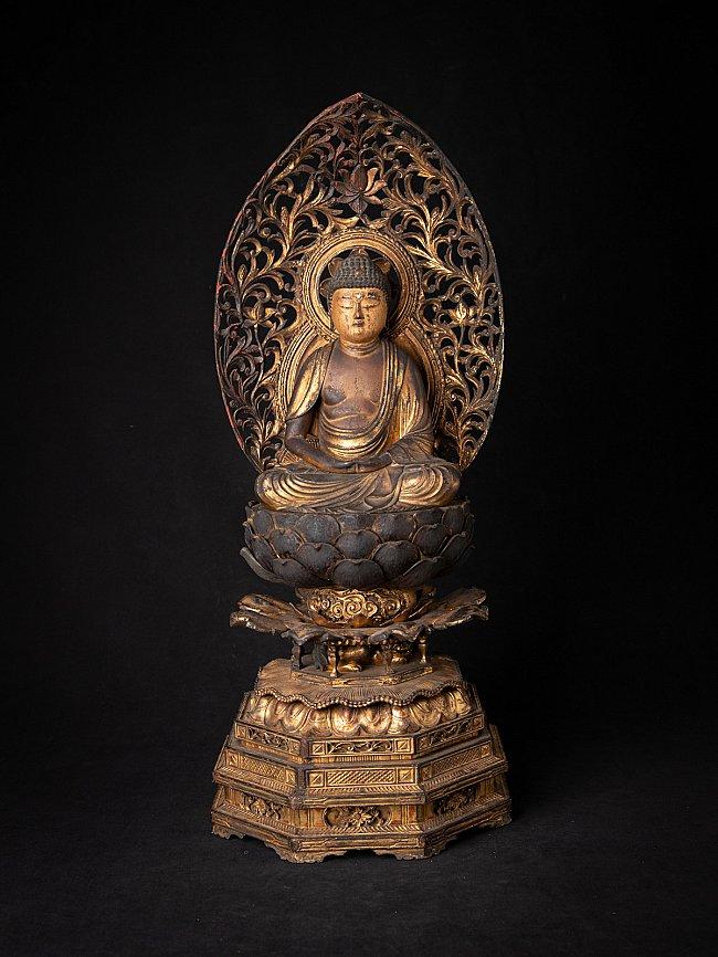 Special antique Japanese Amida Buddha statue