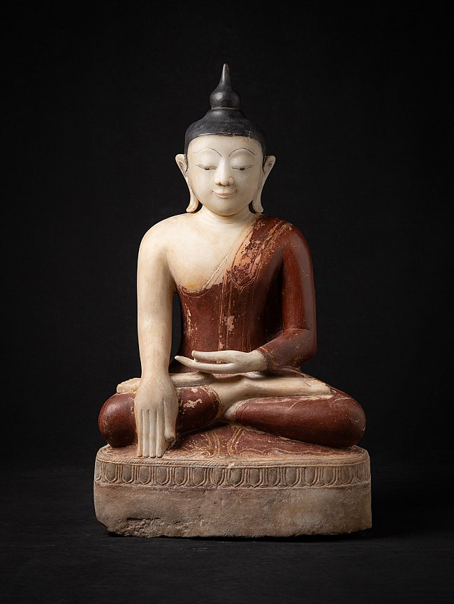 Very nice antique marble Buddha statue