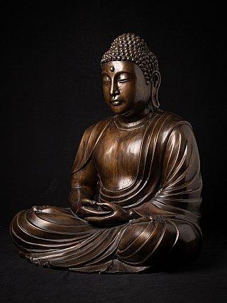 Large bronze Japanese Buddha statue
