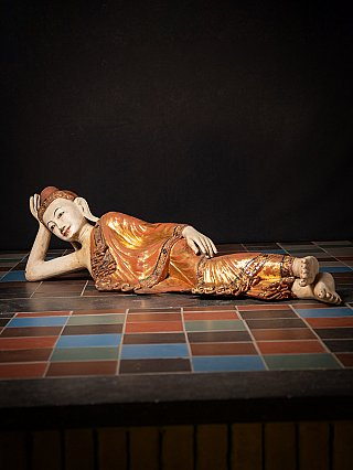 Very large antique Burmese Buddha statue