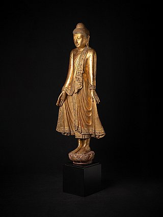 Antique wooden Burmese Mandalay Buddha