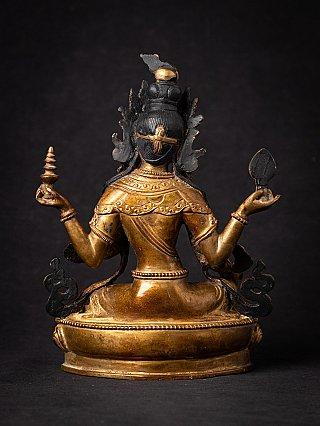 Old bronze Nepali Laxmi statue