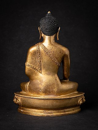 Old bronze Nepali Buddha