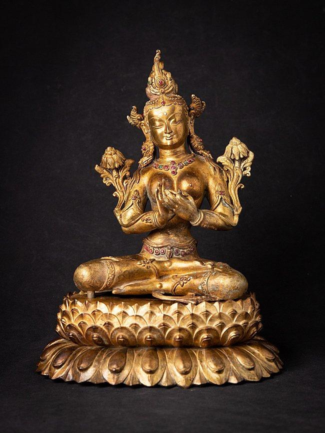 Oude bronzen Nepalese Tara
