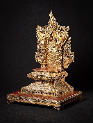 Old wooden Burmese shrine