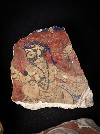 18th century painted temple fragments