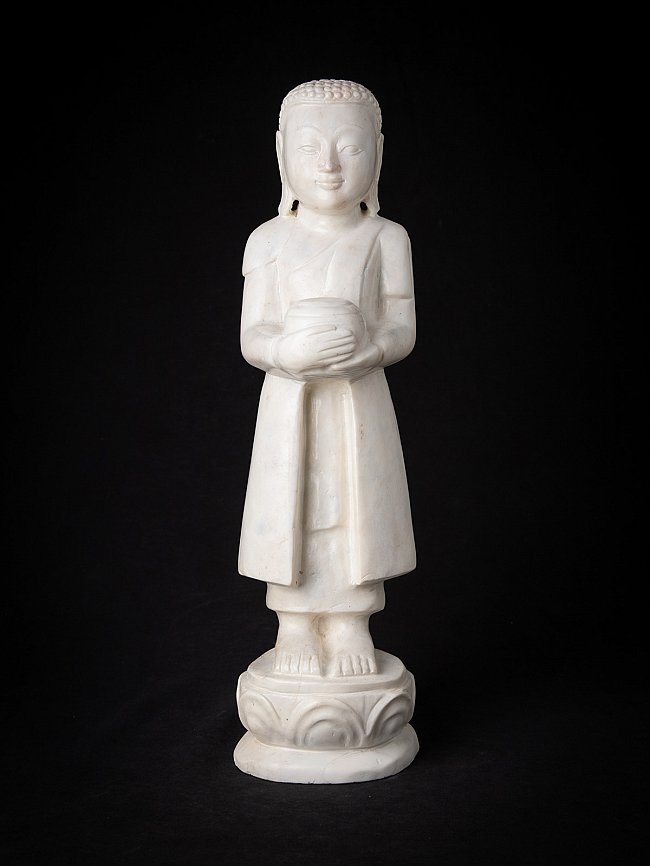 Newly made marble Monk statue