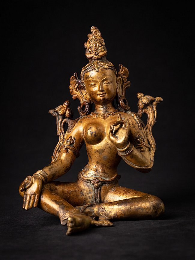 Old bronze Nepali Green Tara statue