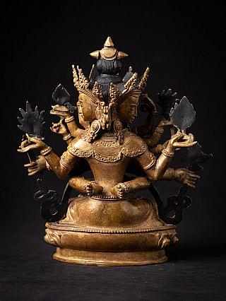 Old bronze Nepali Guhaysamaja statue