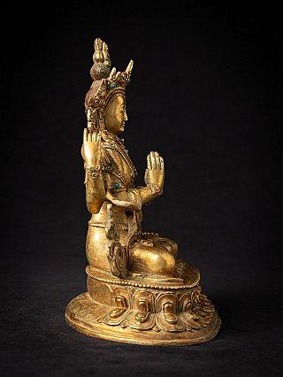 Old bronze Nepali Chenrezig