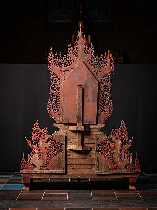 Special antique Burmese Throne