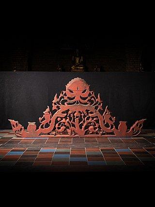 Antique wooden temple panel