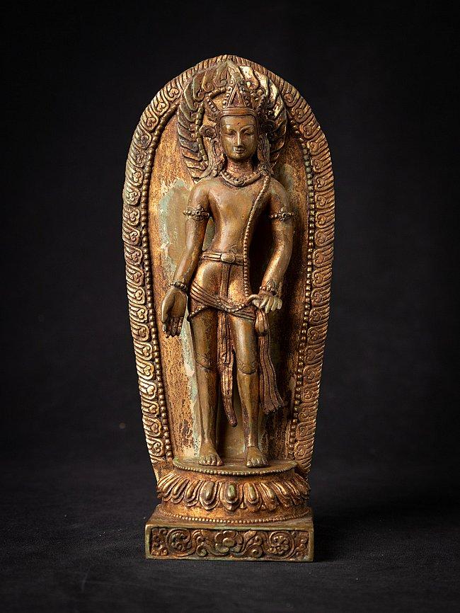 Antique bronze Nepali Bodhisattva Avalokiteshvara - Padmapani