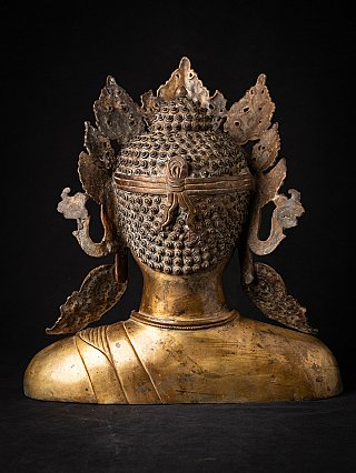 Old Nepali bronze Buddha head