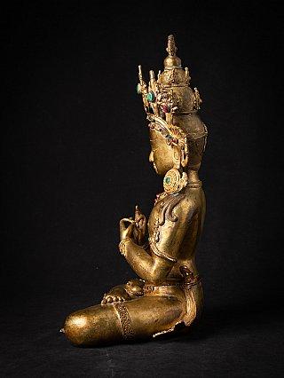 High quality old bronze Nepali Bodhisattva statue