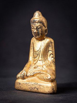 Antieke houten Birmese Shan Boeddha
