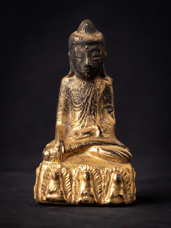Antike holzerne Birmanische Buddha
