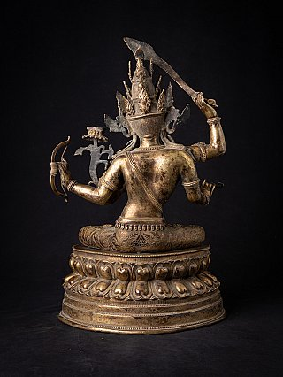 Antique bronze Nepali Manjushree statue