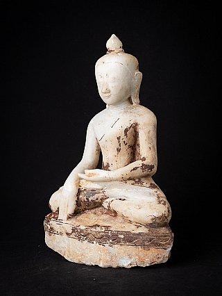 Antike Birmanische Marmor Buddhafigur