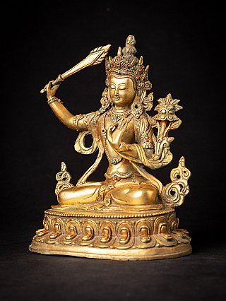Old bronze Nepali Manjushree statue