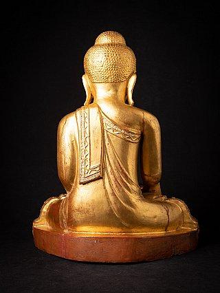 Antique wooden Burmese Mandalay Buddha