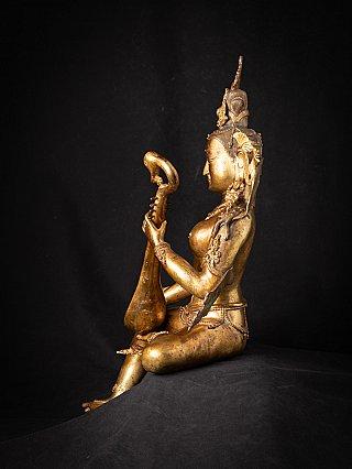 Large old bronze Nepali Saraswati statue