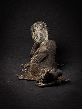 Alte bronze Birmanische liegende Buddhafigur