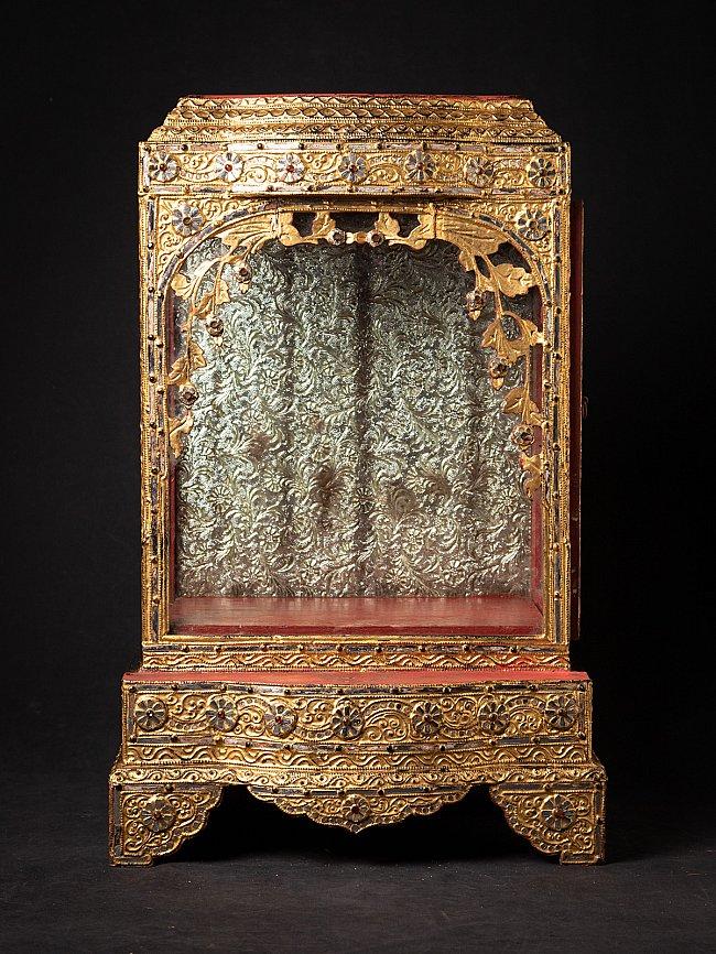 Antique wooden Burmese Temple